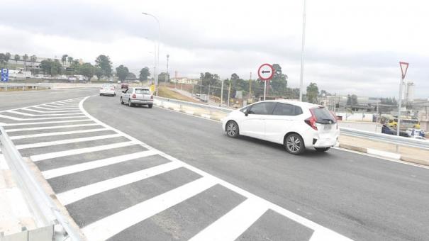 Nova alça do Trevo de Bonsucesso agiliza tempo de percurso do transporte urbano