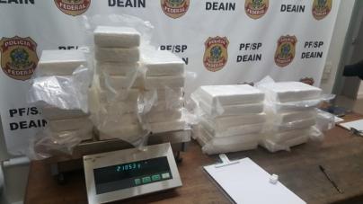 Polícia Federal prende passageira com 40kg de cocaína na bagagem