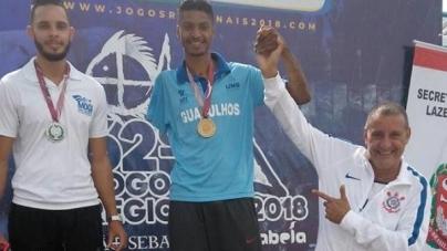 Bruno Cristian conquista 3 medalhas de ouro para Guarulhos nos Regionais