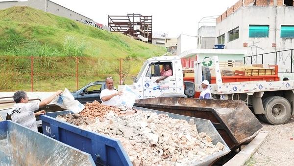 PEVs recebem mais de 22 mil toneladas de materiais