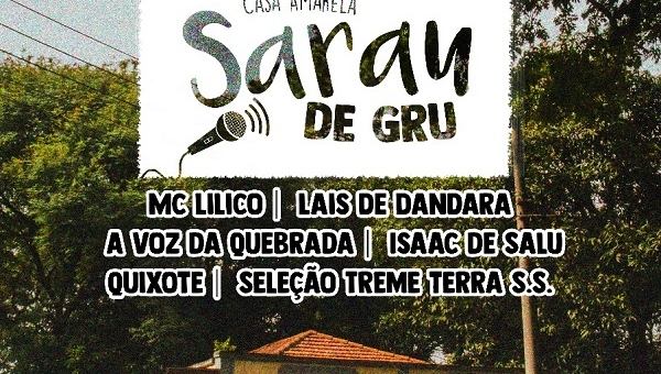 Casa Amarela apresenta Sarau de Gru neste domingo (15)