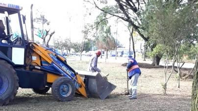 Proguaru realiza ações de zeladoria no ginásio Fioravante Iervolino