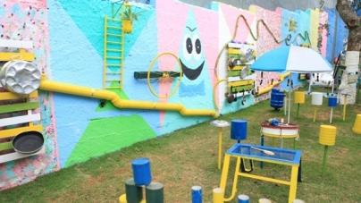 Parque Sonoro é atração para famílias e alunos da EPG Tia Carmela