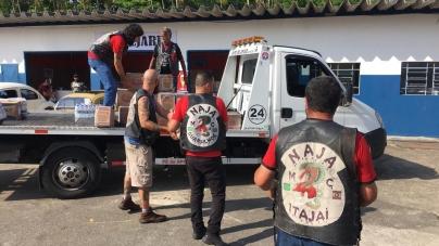 Fundo Social recebe 3,2 toneladas de alimentos do Naja Moto Clube