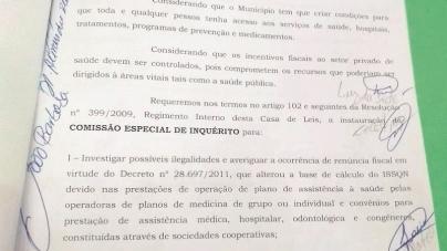 CEI que apura se Almeida beneficiou cooperativa médica em Guarulhos deve ser composta até terça- feira