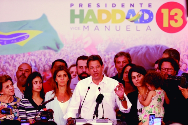 Haddad fala em democracia e liberdades de quem votou nele