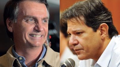 Bolsonaro tem 57% dos votos válidos, contra 43% de Haddad, diz pesquisa CNT/MDA