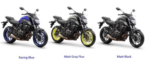 Nova Yamaha MT-07 ABS 2019 apresenta novo design