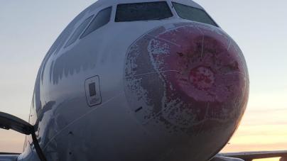 Aeronave que decolou em Guarulhos sofre avarias depois de uma chuva de granizo