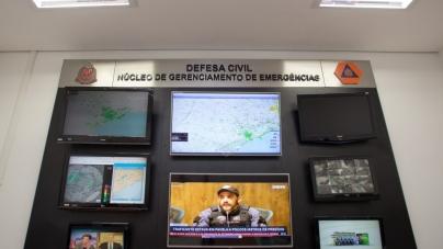 Defesa Civil Estadual monitora áreas de risco em caso de chuvas fortes