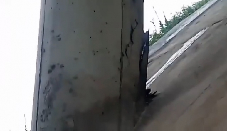 NovaDutra conserta rachadura em viaduto em Cumbica