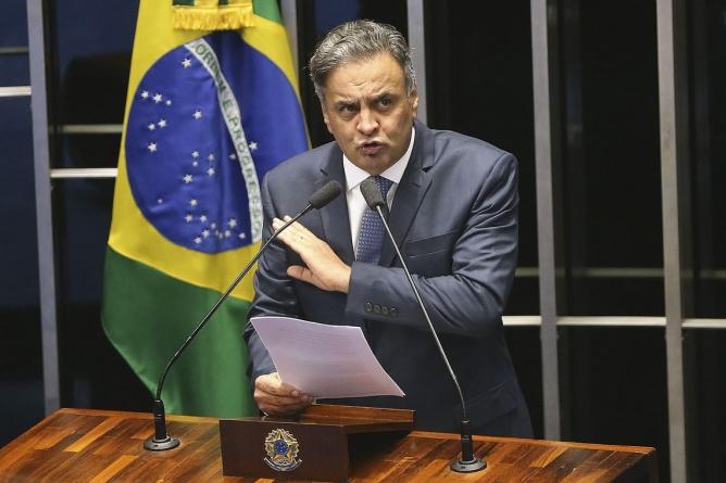 Operação da PF cumpre mandados em endereços ligados a Aécio Neves