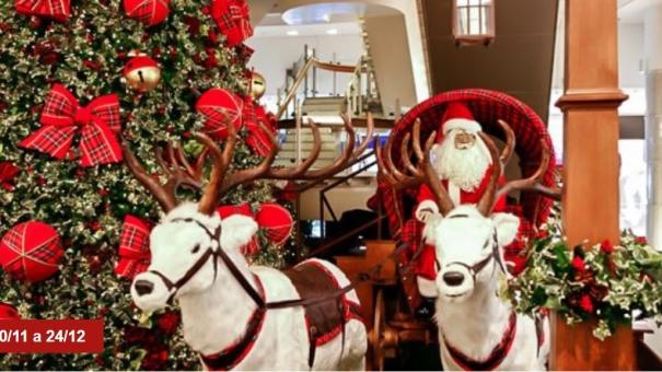 """Carrossel e trenzinho fazem a alegria dos pequenos na """"Fazenda das Renas de Natal"""" do Shopping Center Norte"""