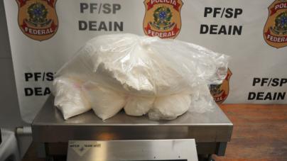 PF apreende 45 kg de cocaína com passageiros de voos internacionais