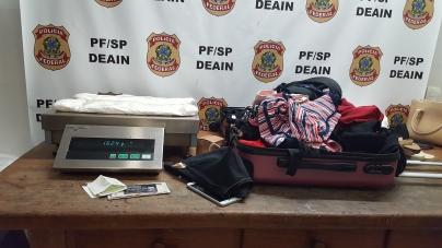 PF apreende 10 kg de cocaína e prende 3 pessoas por tráfico de drogas