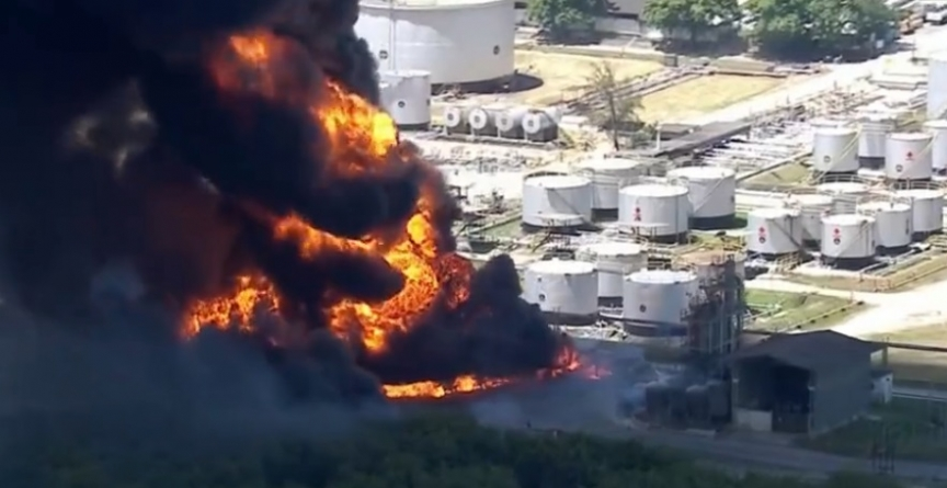 Incêndio atinge Refinaria de Manguinhos, zona norte do RJ