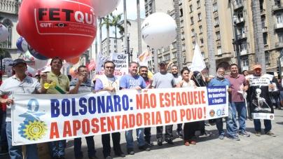 Metalúrgicos de Guarulhos reforçam ato contra o fim da aposentadoria