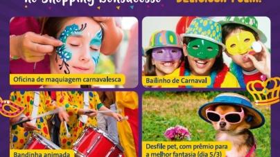 Shopping Bonsucesso oferece atividades especiais para o carnaval