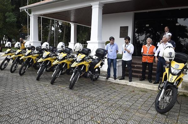 Ação integrada de secretarias proporciona dez motos para a fiscalização de trânsito na cidade