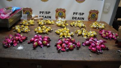 PF apreende mais de 13 quilos de cocaína e prende três pessoas por tráfico de drogas