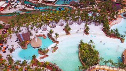Olímpia possui piscinas de água quente e é opção nas férias de julho