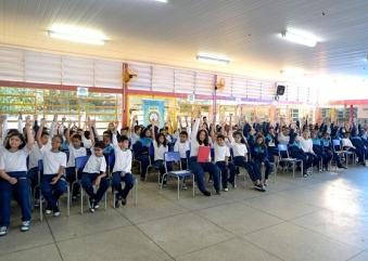 Projeto contra as drogas realiza formatura para alunos da EPG Tom Jobim