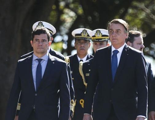 Moro e Bolsonaro tiveram reunião no Palácio da Alvorada e participam de evento