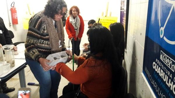 Alunos com deficiência visual participam de atividade do Programa Lixo Zero