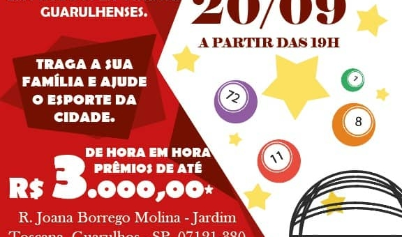 Guarulhense realiza bingo beneficente em prol dos atletas do clube