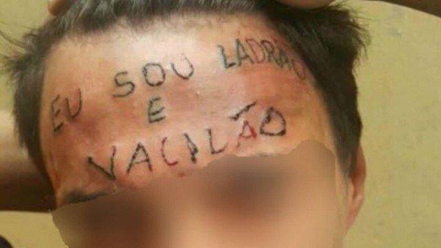 Jovem tatuado na testa em 2017 é condenado a 4 anos de prisão por furto