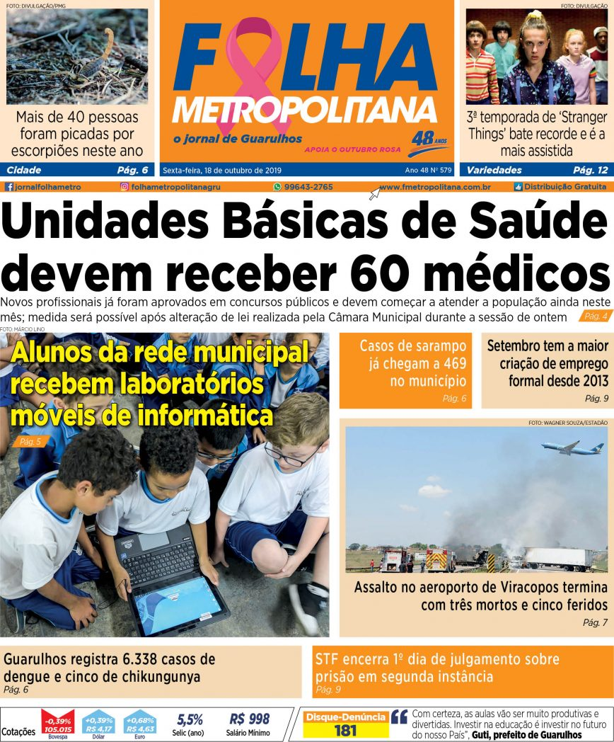 Folha Metropolitana ed 579 - 18/10/2019