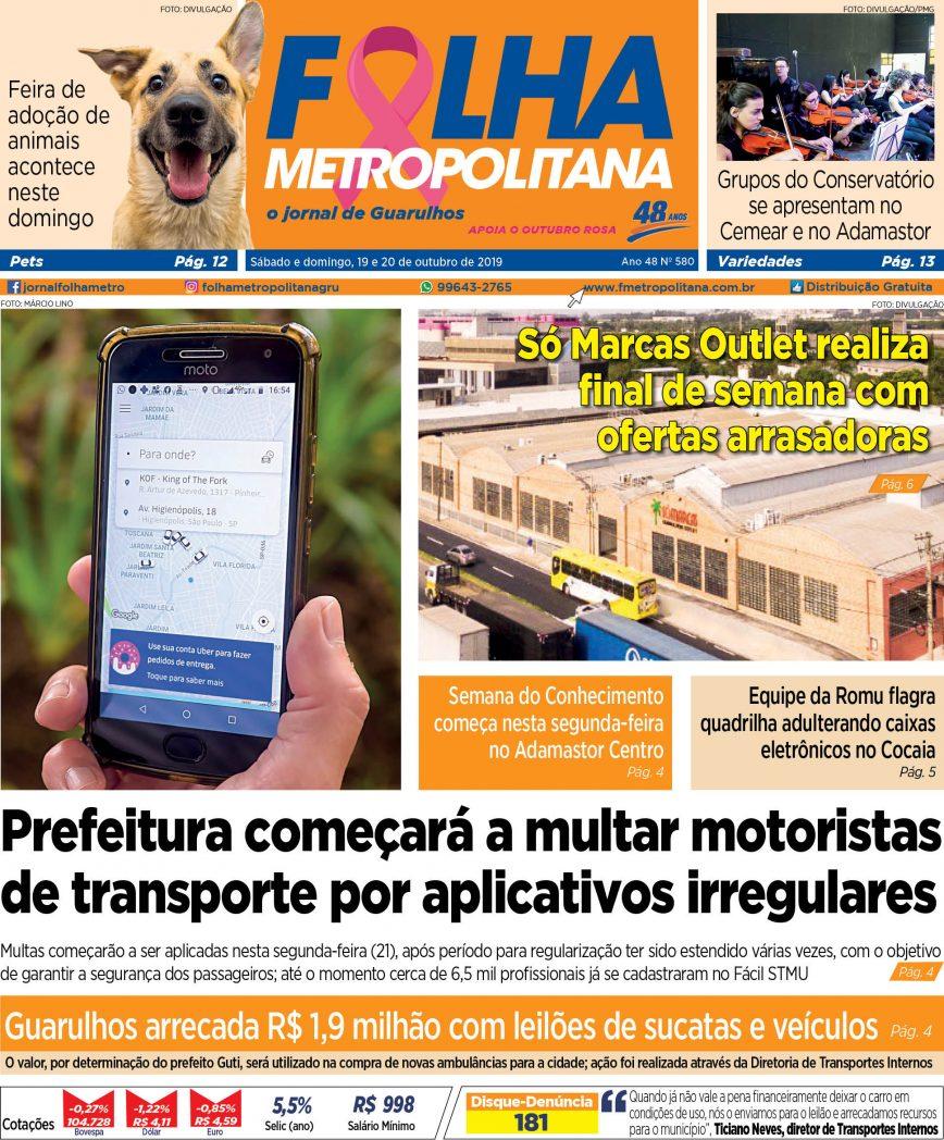 Folha Metropolitana ed 580 - 19-20/10/2019