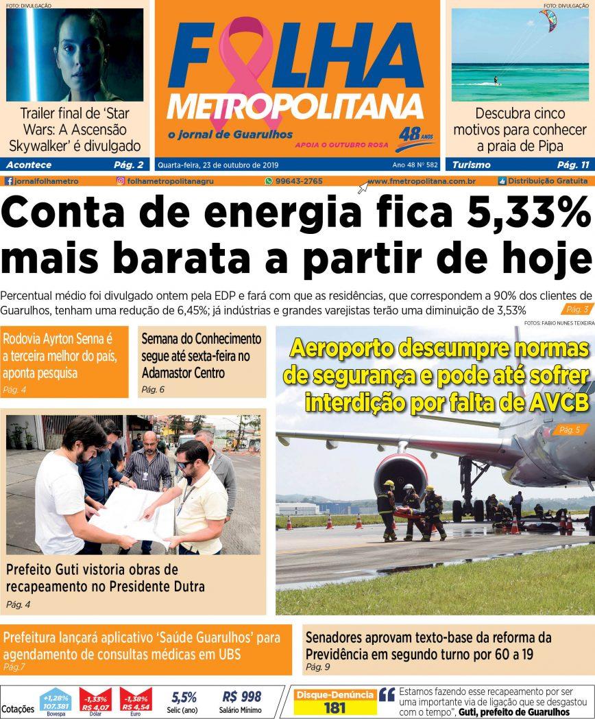 Folha Metropolitana ed 582 - 23/10/2019